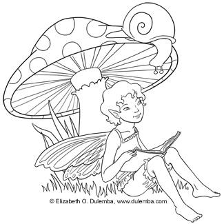 Freebie: Fairy Digi Stamp