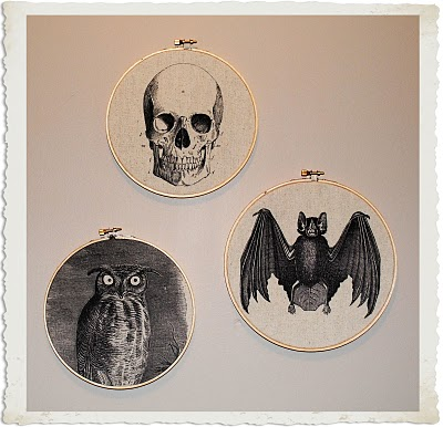 Freebies and Project: Halloween Fabric Hoops