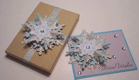 Review and Giveaway: Stampin Up Festive Flurry Ornament Kit