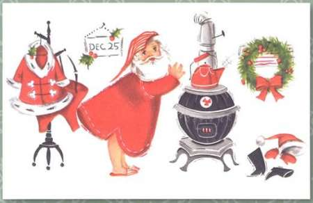 Freebie: Vintage Santa Printable