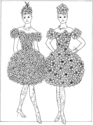 Freebie: Flower Fashion Girls