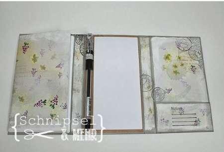 project: stamped pocket calendar