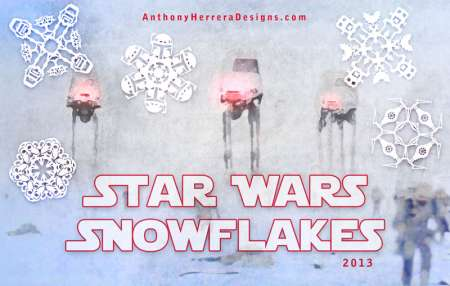 Freebie: Star Wars Paper Snowflakes