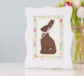 Project: Framed Chocolate Bunny Easter Decor