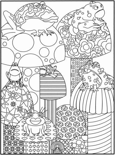 Freebie: Frogs Coloring Page