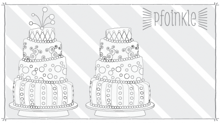 Freebie: Cake Digital Stamps
