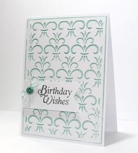 Freebie: Birthday Card Digital Stamp and Background Die Cut