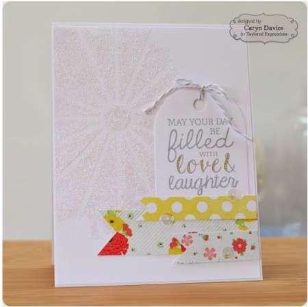 technique: glitter paste stencil card