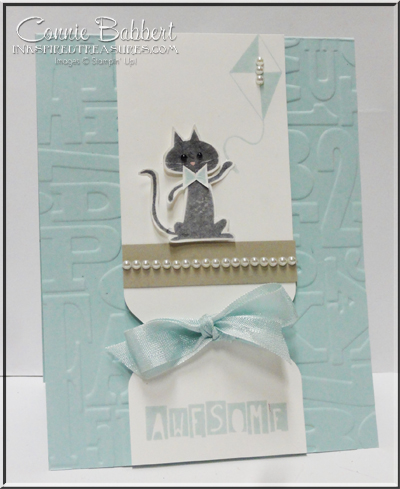 Project: Stamped Kitty Cat Card