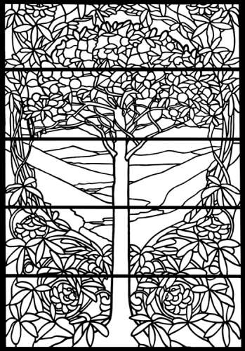 Freebie: Stained Glass Tree Image