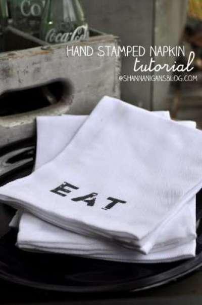 stamped napkins