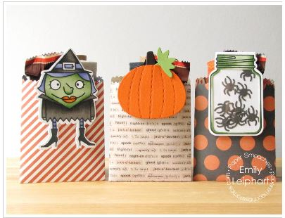 project: Halloween candy bag and bookmark