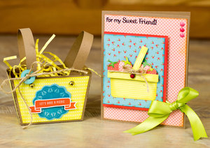 Freebie: Paper Basket and Matching Card