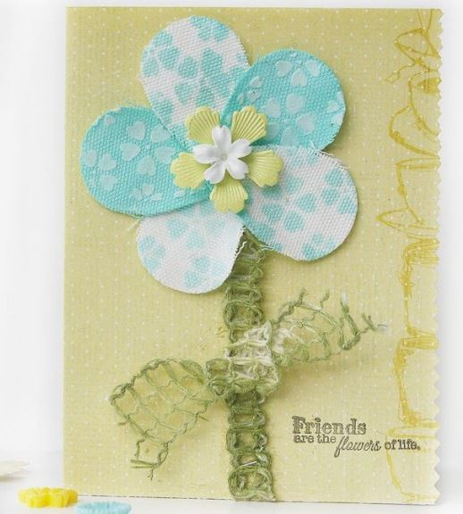 Project: Stenciled Fabric Flower Card