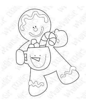 Freebie: Gingerbread Digital Stamp