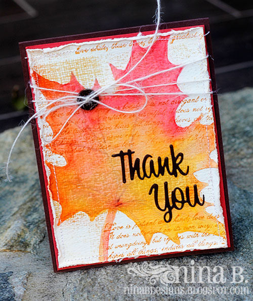 Project: Watercolor Thanksgiving Card
