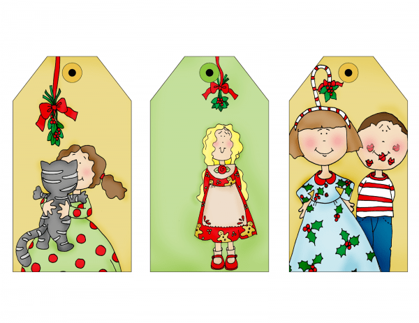 Freebie: Holiday Gift Tags Digital Stamps