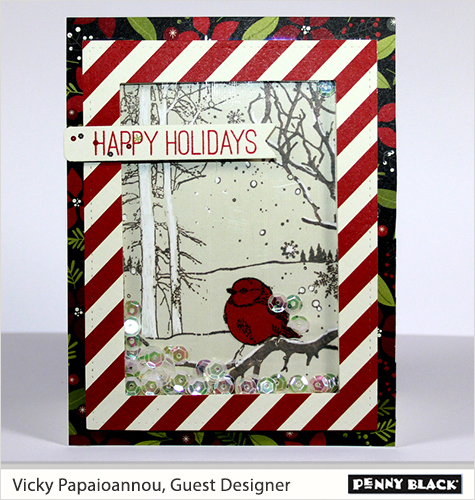 Video Tutorial: Winter Cardinal Shaker Card