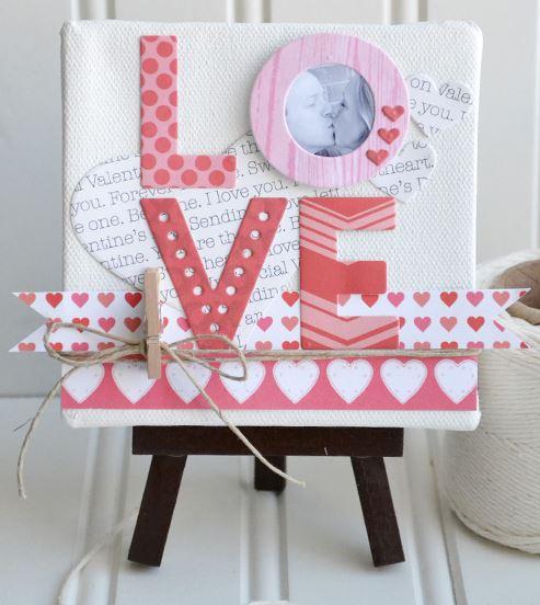 Project: Valentine Home Décor Canvas