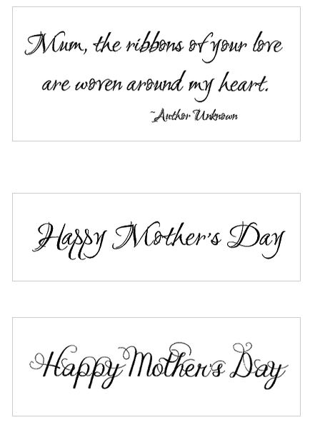 Freebie: Mother's Day Sentiments