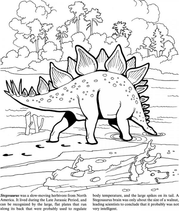 Freebie Dinosaur Coloring Page