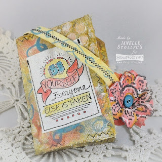 Project: Stamped Fabric Notebook