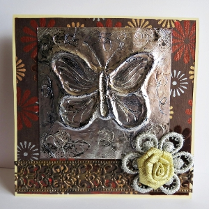 Project: Faux Pewter Card Accent