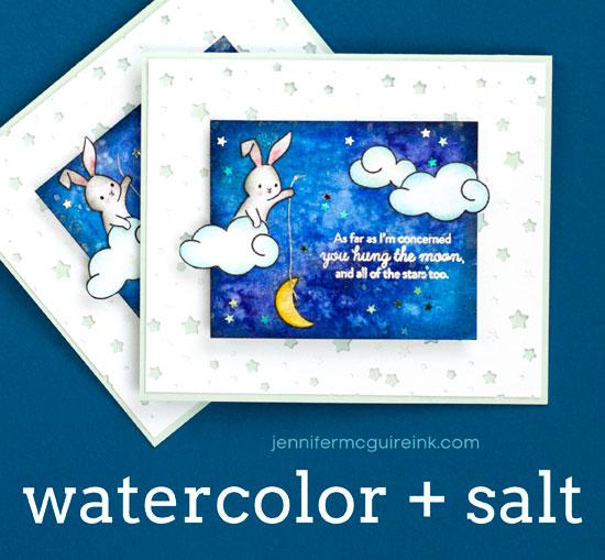 Technique: Water Color and Salt Technique