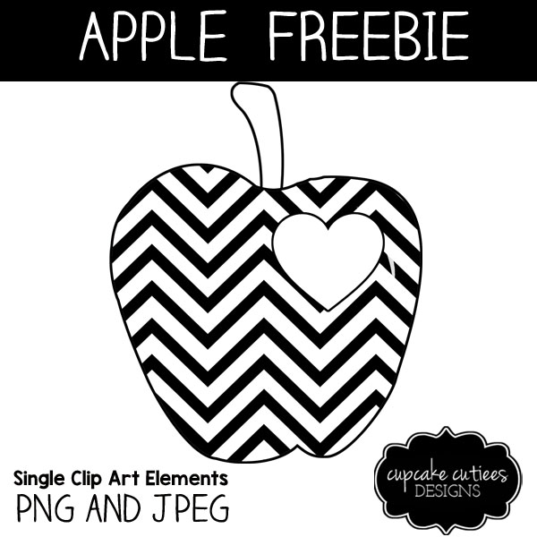 Freebie: Chevron Apple Digi Stamp
