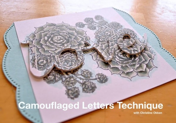 Technique: Camouflaged Letters Card