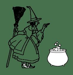 Freebie: Witch Digi Stamp
