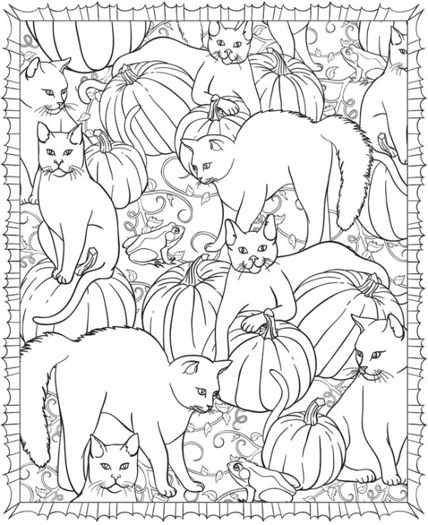 Freebie: Halloween Coloring Page