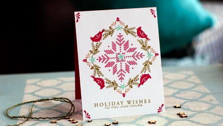 Project: Nordic Style Holiday Card