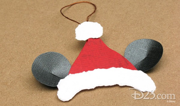 Freebie Mickey Mouse Paper Ornament Stamping