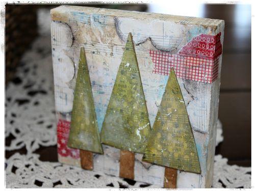 Project: Holiday Mixed Media Canvas