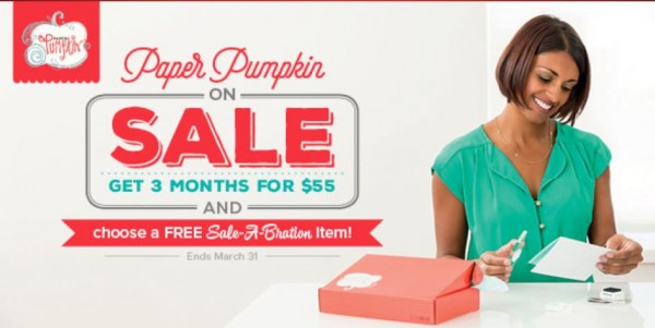 Sale: Discount on Stampin' Up Paper Pumpkin Kits