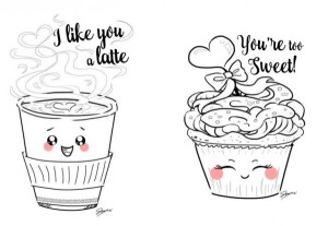 Freebie: Valentine's Day Food Digital Stamps