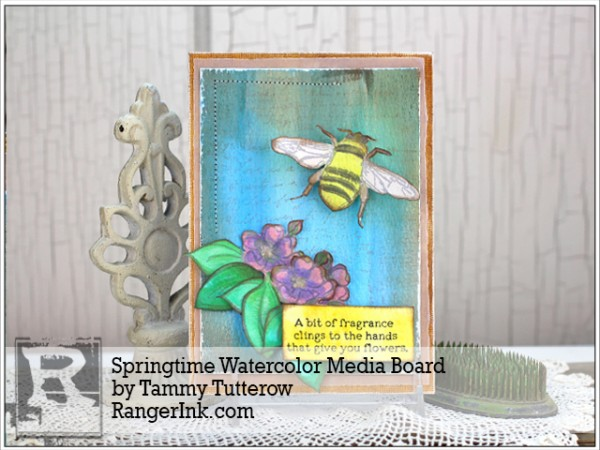 Project: Spring Time Mixed Media Art