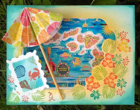 Project: Beach Umbrella Card