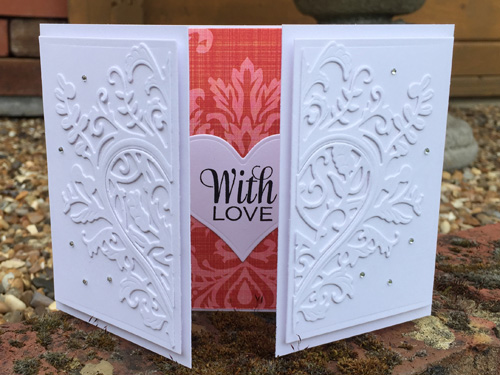 Project: White on White Wedding Card