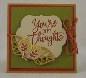 Review: Stampin' Up Thoughtful Branches August Stamp and Die Special Release