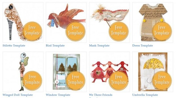 Freebie: 74 paper crafting templates