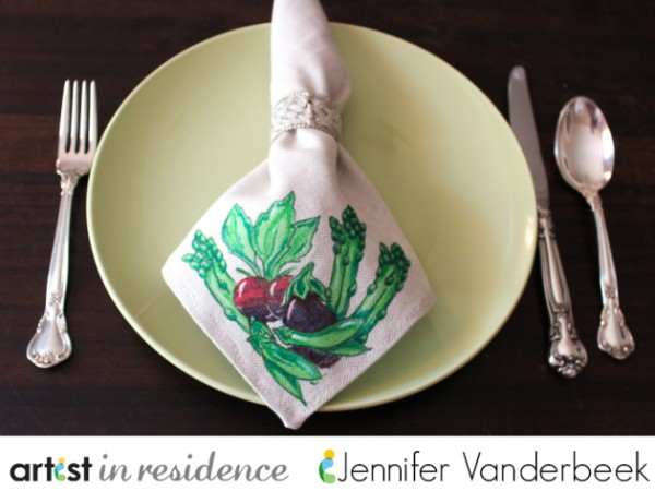 Project: Stamped Napkins