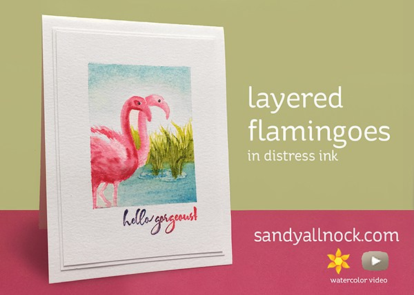 Project: Layered Stamping Flamingo Card