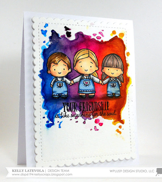 Technique: Bright Colorful Card Background with Distress Inks