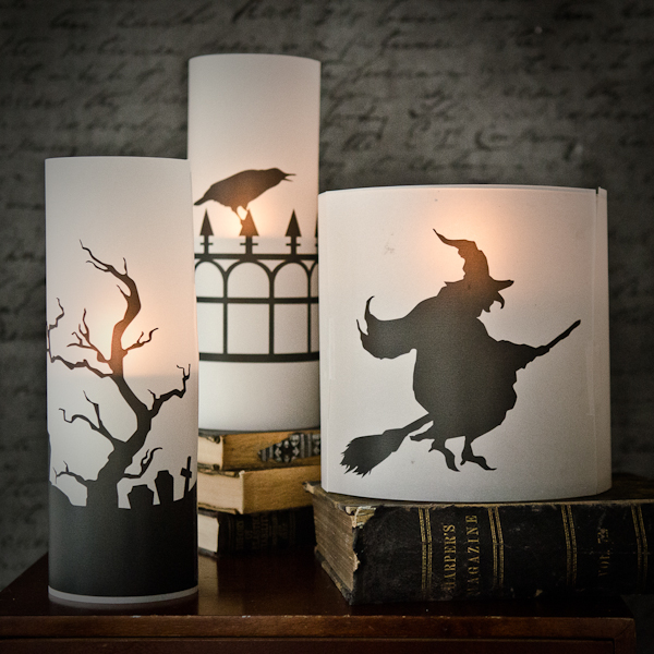 Freebie and Project: Halloween Candle Silhouettes