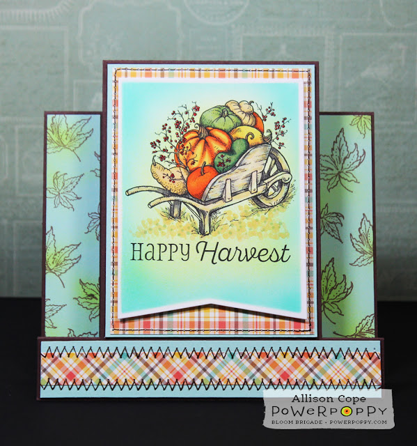Technique: Fall Card with Copic Airbrush Background