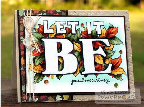Freebie: Let it Be Digital Stamp