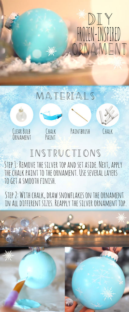Project: Disney Frozen Inspired Ornament