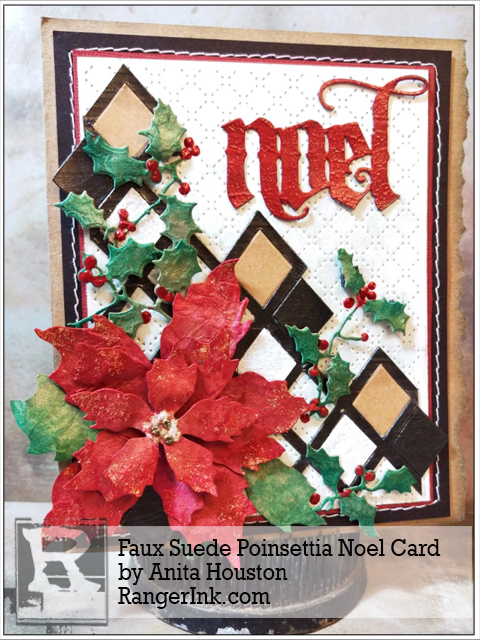 Project: Faux Suede Poinsettia Card